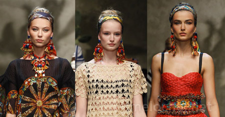 Модные серьги весна-лето 2013
